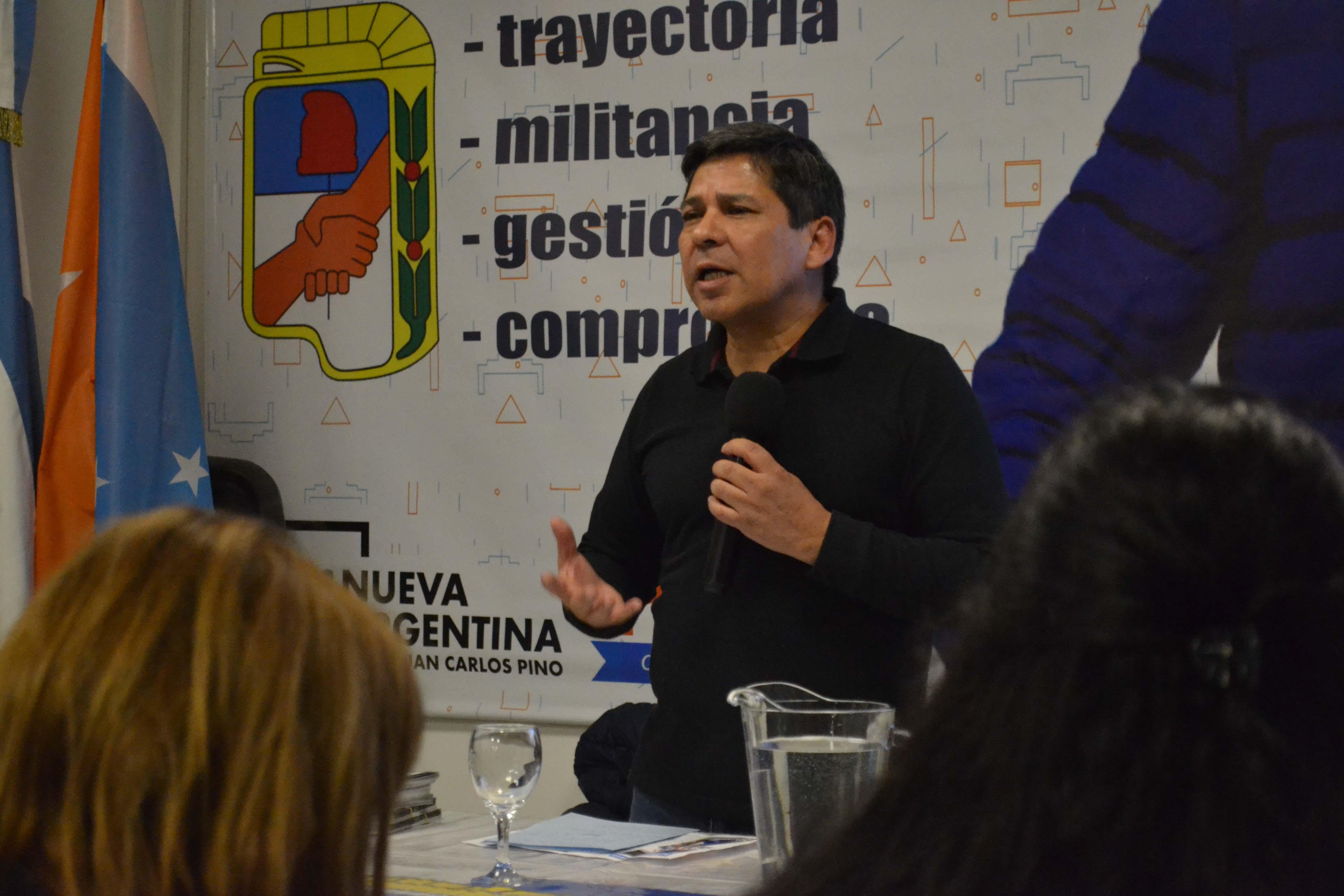 """Pino: """"La militancia es el mejor camino para transformar las cosas"""""""